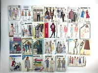 Lot of 27 80's & 90's sewing patterns Simplicity, McCalls Butterick &super Saver