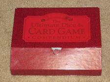 The Ultimate Dice & Card Game Compendium~Case/Dice/Book/Score Pad/Cards/pencil~N