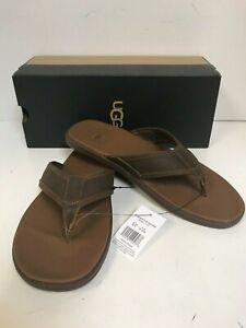 UGG Men's Seaside Flip Flop Luggage Leather Sandals