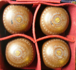 Henselite Lawn Bowls Set of 4 Size 0 Heavy Brown or Black Ur choice of 1