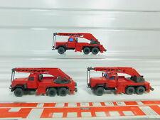 BO558-0,5 # 3 x Wiking H0/1:87 Gru Kranwagen-Modell Magirus Fw / Pompieri, Nuovo