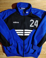 Adidas Originals 90's Vintage Mens Tracksuit Top Jacket Blue Black Training
