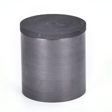 40 x 40mm High Purity Graphite Melting Crucible Casting + Lid Cover Silver