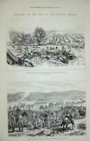 Original Old Antique Print Roumanian Seirs 1877 War Plevna Bryslan Dorobantz