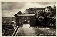 Postkarte mit Stempel von TÜBINGEN Neckar 1930 AK Dt. Reich Eingang Weg Schloss