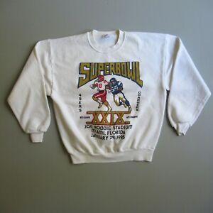 VINTAGE 1995 Super Bowl XXIX Chargers vs 49ers Sweatshirt USA Made