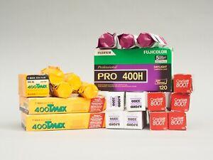 40 ROLLS OF FILM - Job lot of 120 film - FUJI PRO400H - PORTRA & TMAX 400 - ETC