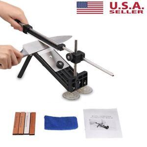 Fix-angle Knife Sharpener Professional Kitchen Sharpening System Kits w/4 Stones