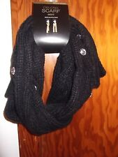 MIXIT - WOMEN - SCARF - OBLONG - BLACK - ONE SIZE   (AC-20-184x2)