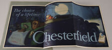 1930 Chesterfield Cigarettes Trolley Car Poster Sign Just Married  C.Chambers NR