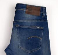 G-Star Brut Hommes 3301 Slim Jeans Jambe Droite Taille W28 L32 APZ261