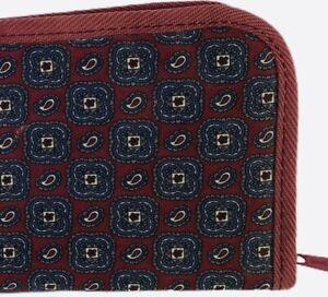 Travel Tie Case Men Travel Necktie Box Travel  With Burgundy Tie Design Print