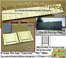Tilt-Up Concrete Wall 1/2 Section w/Elevated Door(2pcs)Scale Model Masterpieces