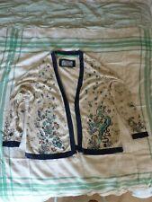 Cardigan Ladies Per Una Multi mix colour Size 20. No buttons. Pure Cotton.