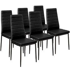 6x Chaise de salle à manger ensemble salon design chaises cuisine noir