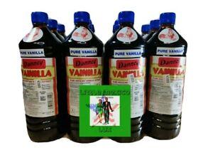 Case -Twelve (12) Danncy Pure Mexican Vanilla Extract -Dark(1 Liter-Each)FREE🚚