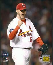 Adam Wainwright World Series 8x10 Photo St. Louis Cardinals With Toploader