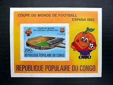 CONGO Wholesale Football Spain World Cup M/sheet imperf x50 U/M nb821
