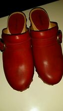 TDF! Isabel Marant Red Leather Clogs 355 US