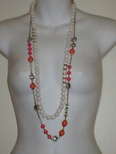 Banana Republic Crystal bauble necklace $39.50 White Bead Necklace Lot of 2 PCS