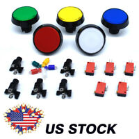 GREEN Arcade Button With Microswitch /& Locking Nut Video Game Multigame MAME