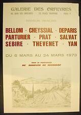 Affiche exposition Belloni Cheyssial Deparis Parturier Prat Salvat Sebire 1973