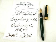 "Vintage SHEAFFER'S Fountain Pen ~ 1949 OVERSIZE ""FAT"" Touchdown 14K Nib ~ ExC"