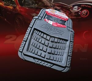 DICKIES ALL WEATHER WATER PROOF 2PCS FRONT FLOOR MATS GREY FOR FORD CAR & SUV