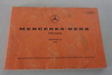 Catalogue Catalogue des Pièces Mercedes Benz R107 350 Sl Support 1971