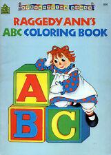 Raggedy Ann coloring book RARE UNUSED