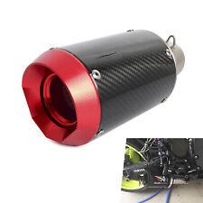 Universal Motorcycle 51mm Slip-On Round Exhaust Muffler Carbon Fiber Dia.105mm