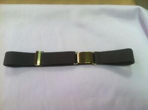 Childrens Kids Toddler Polyester Elastic 1 Inch Grey Gray Adjustable Belt New