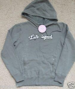 NWT Life is Good.® Women's Windsor Zippity LIG Hoodie L/S (S)