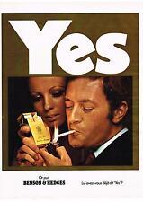 PUBLICITE  1970  BENSON & EDGES   cigarettes  YES