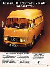 PUBLICITE  1970   MERCEDS BENZ  camionette 206 D