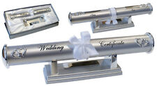 Personalised Silver Wedding Certificate Holder Gift Any Message Engraved