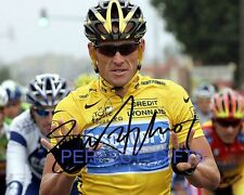 LANCE ARMSTRONG SIGNED AUTOGRAPHED 10X8 INCH REPRO PHOTO PRINT