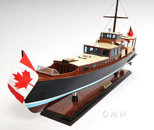 "Dolphin Canadian Motor Yacht Wooden Model 26"" Power Boat Fully Built"