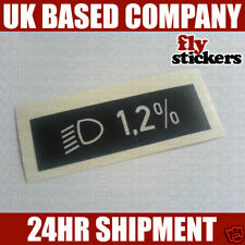 VW MK2 Golf GTI Mk3 Polo Light Beam Angle Sticker