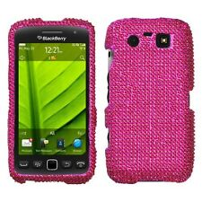 Hot Pink Crystal Diamond BLING Hard Case Phone Cover BlackBerry Torch 9850 9860