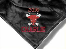 Personalized Monogrammed Throw Blanket w/ Embroidery ~ Mascot Theme~
