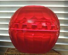 Heavy Red Glass round shape flower bowl vase