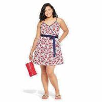 Vineyard Vines Target NWT Womens Hibiscus Whale Strappy V-Neck Wrap Dress- Sz 3X