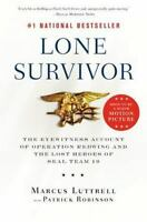 LONE SURVIVOR by Marcus Luttrell a paperback book FREE USA SHIPPING military