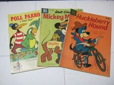 Huckleberry Hound Mickey Mouse & Poll Parrot Comic Books  T*
