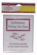 Twisting Wax Paper 100 count LorAnn for Chocolates Caramels Taffy Hard Cand