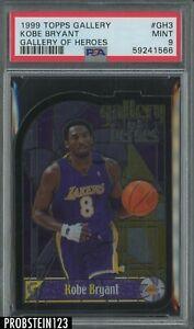 1999-00 Topps Gallery Of Heroes Die-Cut Kobe Bryant Lakers HOF PSA 9 MINT