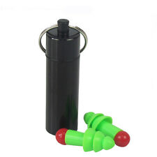 Tourbon Green Ear Plugs Hearing Defender Noise Reduction with Black Carry Case