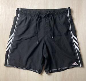 Adidas Swim Trunks Black Men's Size 32 Lined Board Shorts