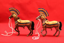 Sammelfigur/Antike/  2 Horses / Deagostini lead figure/OVP/